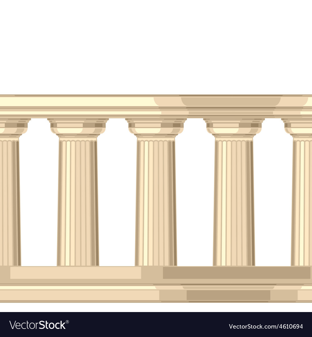 Seamless pattern with doric antique greek vector   Price: 1 Credit (USD $1)