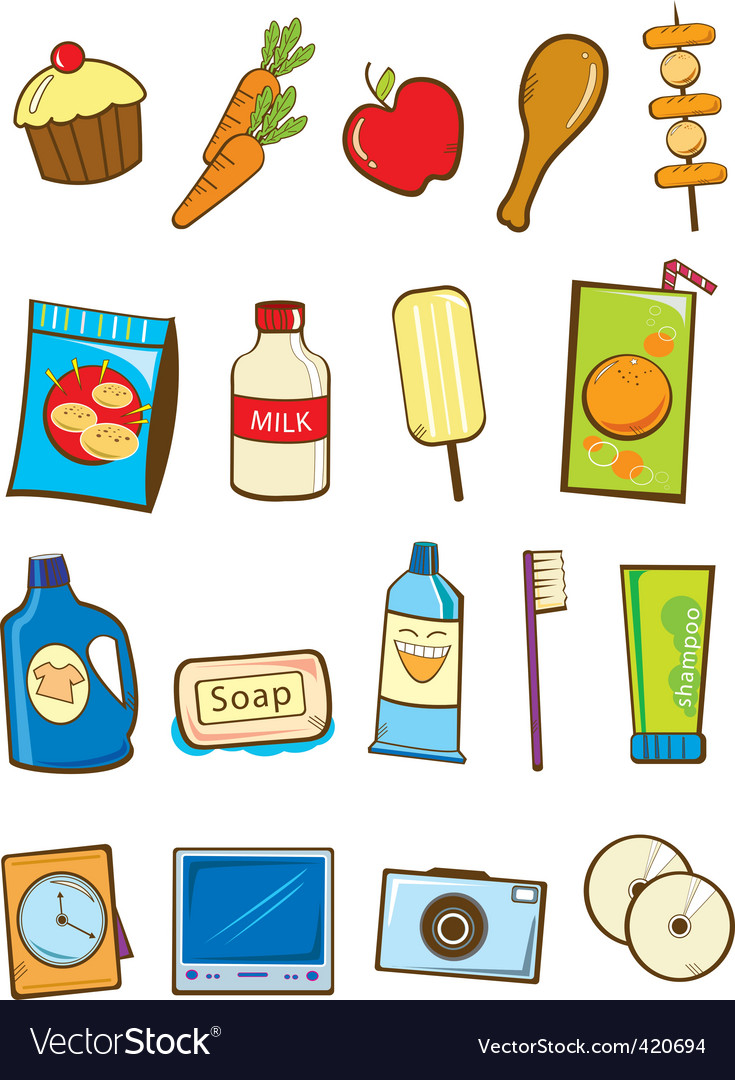 Supermarket item vector | Price: 1 Credit (USD $1)