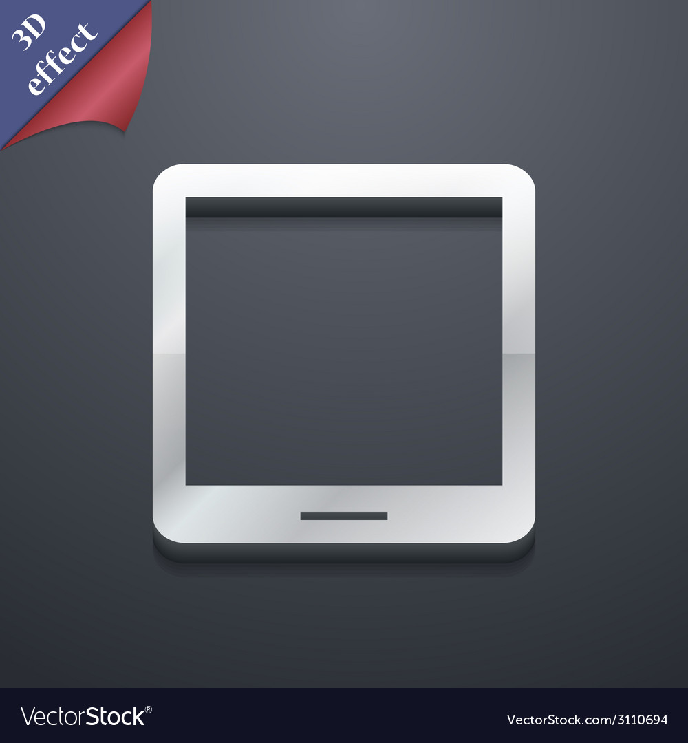 Tablet icon symbol 3d style trendy modern design vector | Price: 1 Credit (USD $1)