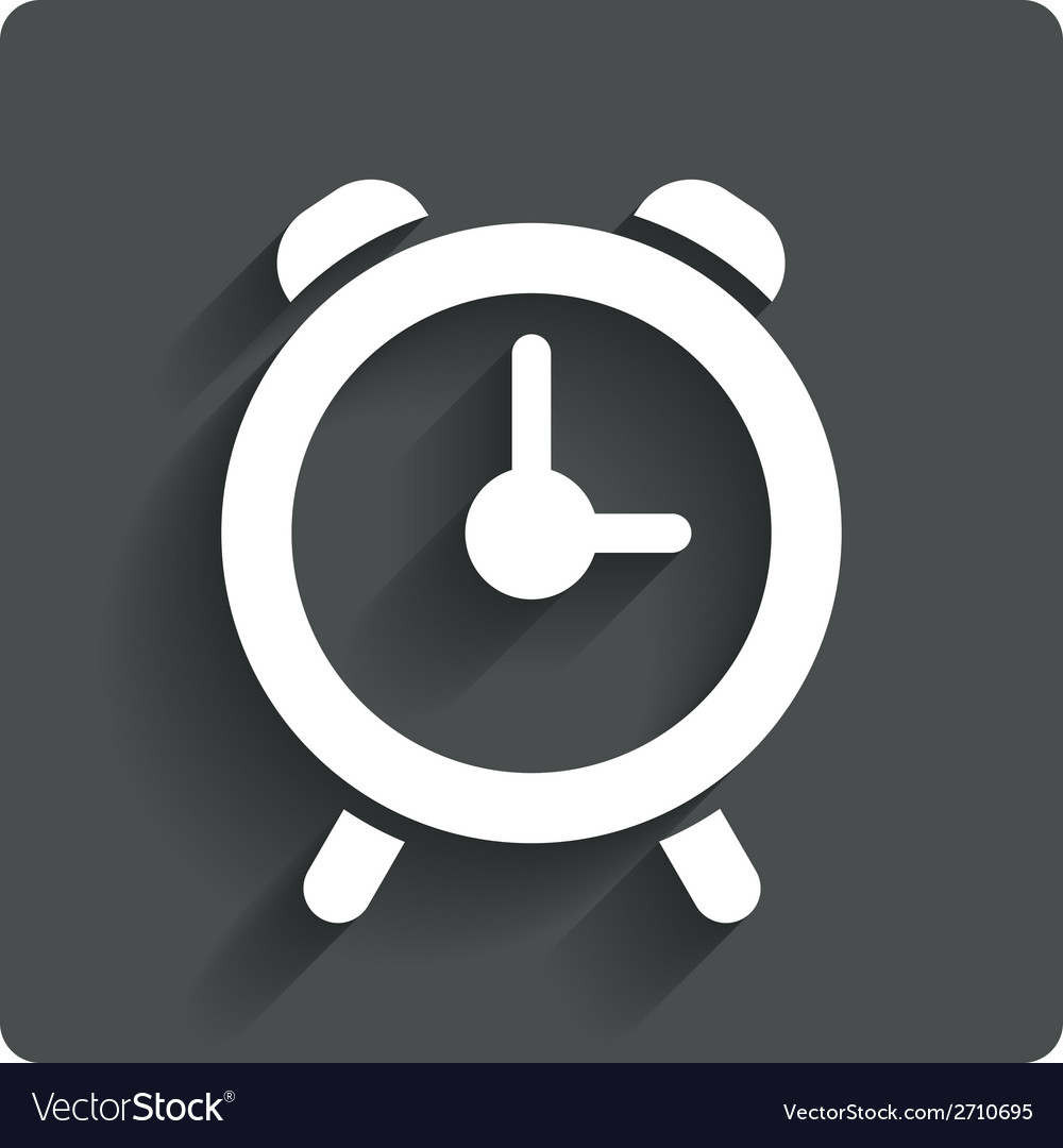 Alarm clock sign icon wake up alarm symbol vector | Price: 1 Credit (USD $1)