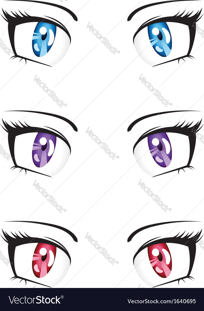 Anime style eyes vector | Price: 1 Credit (USD $1)