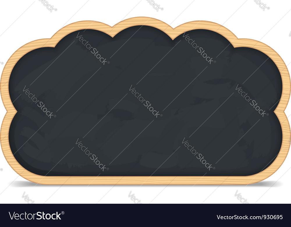 Blackboard cloud icon vector | Price: 1 Credit (USD $1)