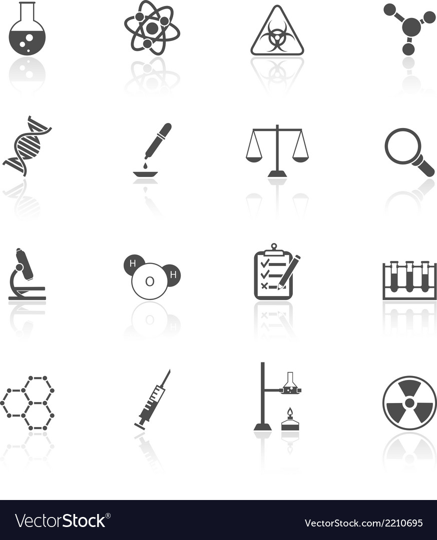 Chemistry icons set vector | Price: 1 Credit (USD $1)