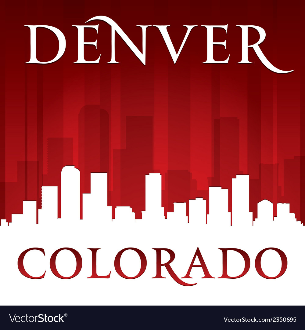 Denver colorado city skyline silhouette vector | Price: 1 Credit (USD $1)