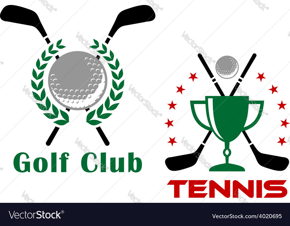 Golf club heraldic logo or emblems vector | Price: 1 Credit (USD $1)