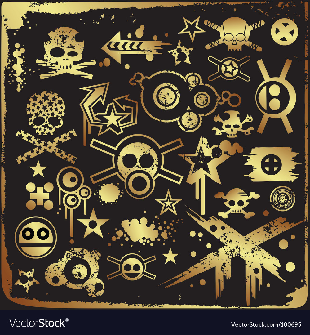 Grunge skulls vector | Price: 1 Credit (USD $1)