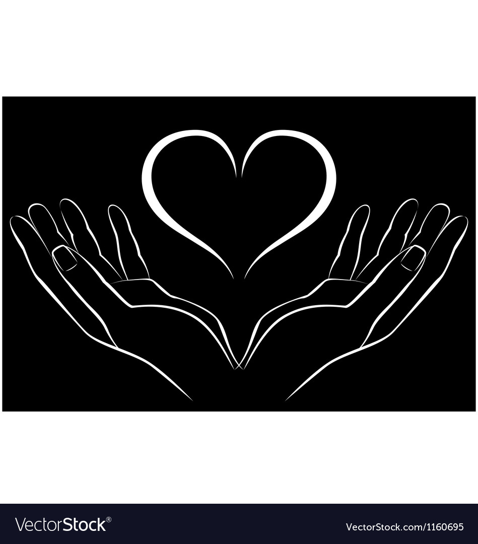 Hand with love vector | Price: 1 Credit (USD $1)