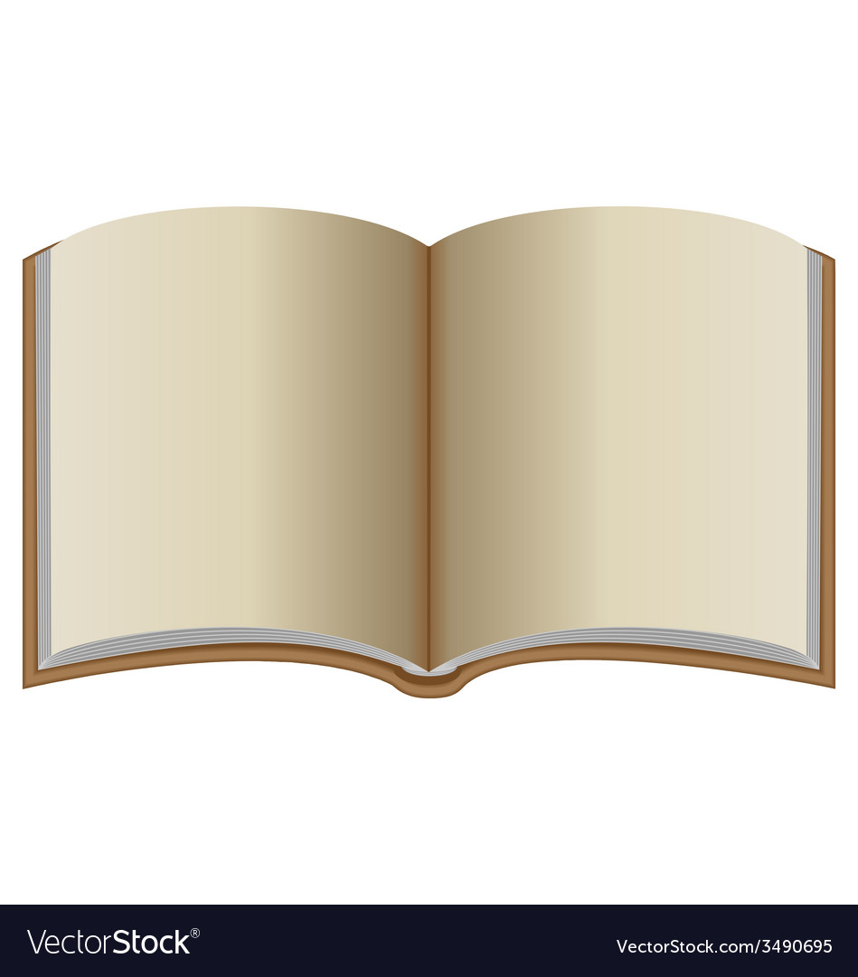 Open book with brown cover vector   Price: 1 Credit (USD $1)