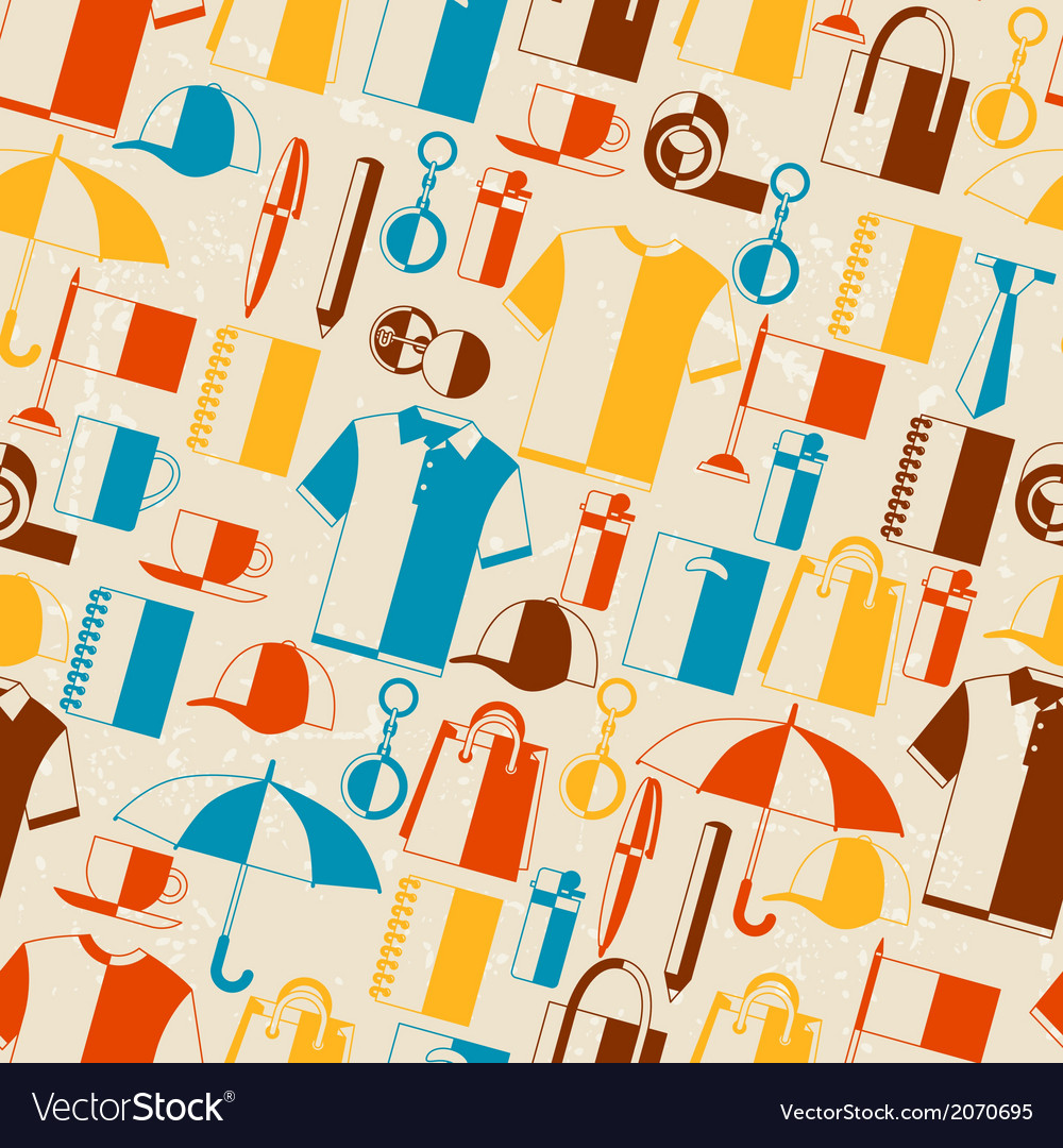 Seamless pattern with promotional gifts and vector | Price: 1 Credit (USD $1)