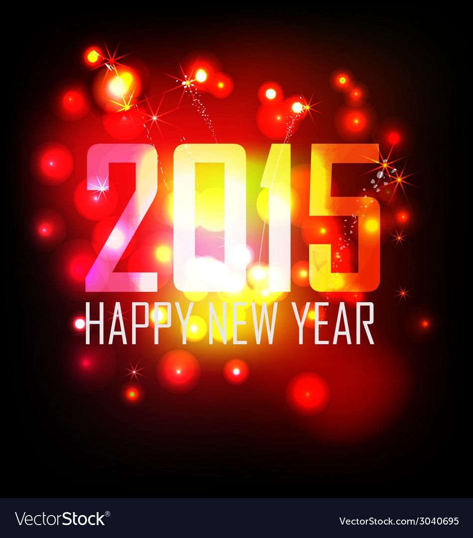 Year 2015 made of colored neon effect vector | Price: 1 Credit (USD $1)