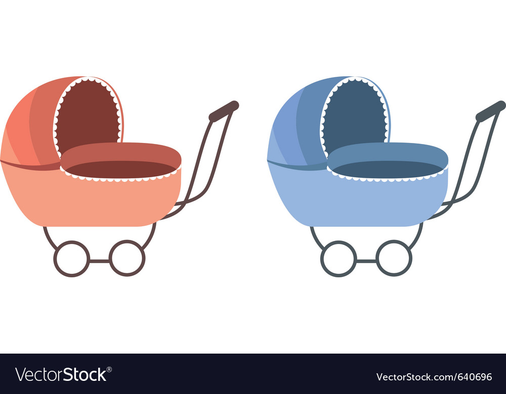 Baby carriage vector | Price: 1 Credit (USD $1)