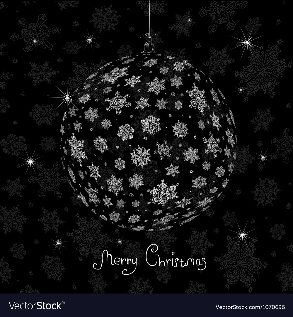 Christmas ball silhouette vector | Price: 1 Credit (USD $1)
