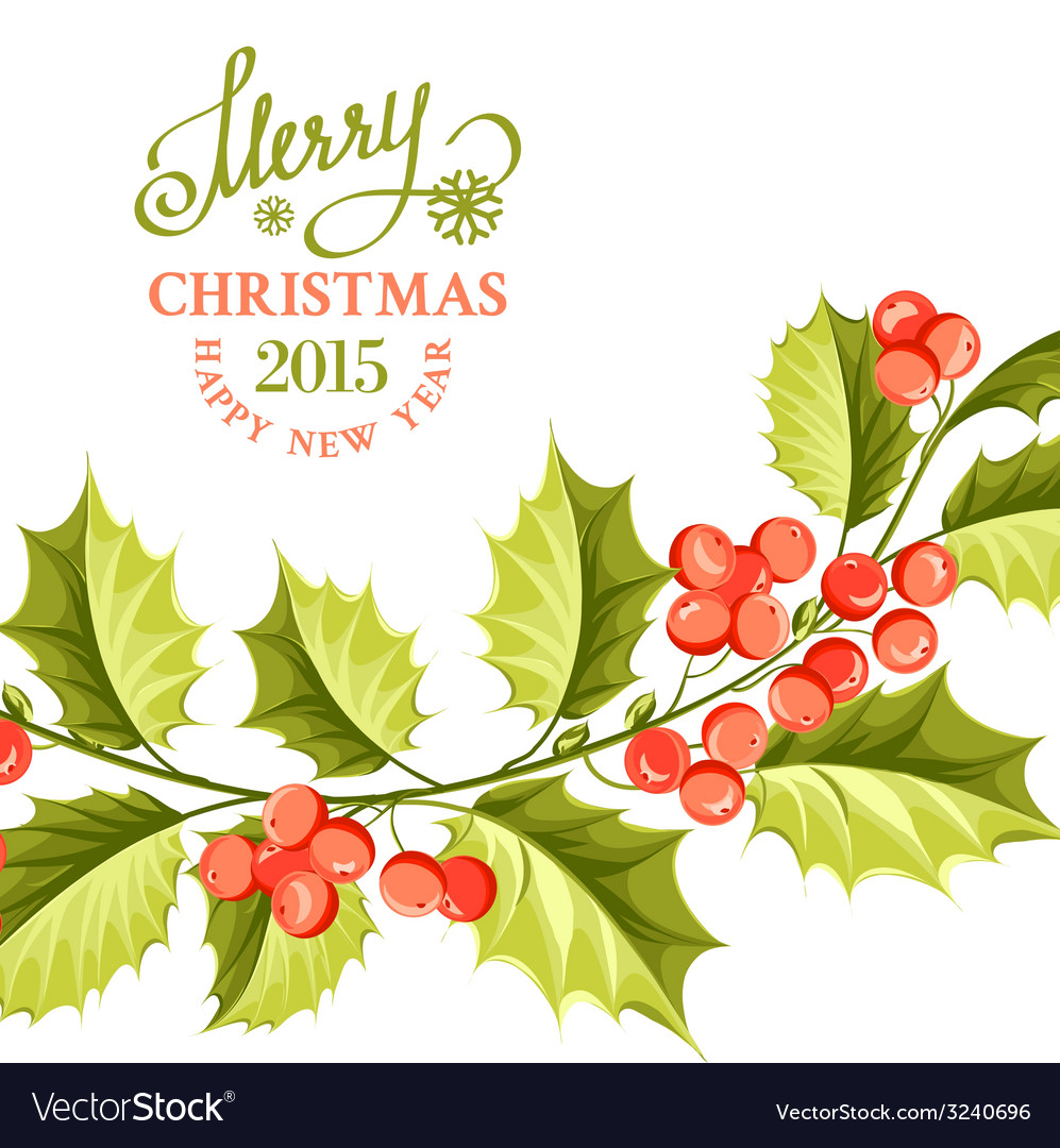 Christmas mistletoe brunch vector | Price: 1 Credit (USD $1)