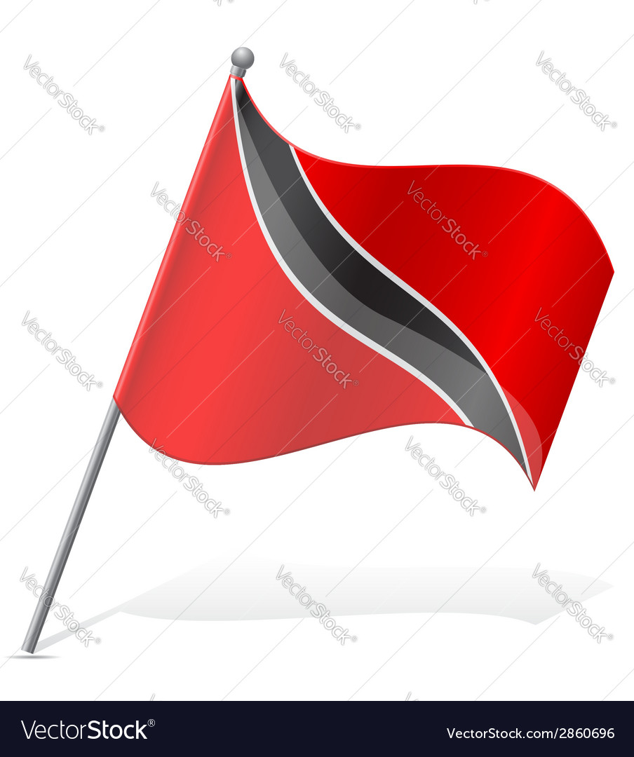 Flag of trinidad and tobago vector | Price: 1 Credit (USD $1)