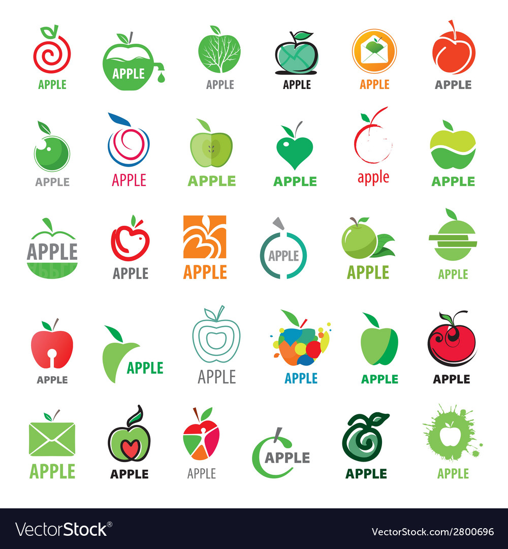 Great collection logos apples vector | Price: 1 Credit (USD $1)