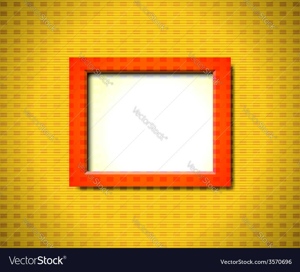Red rectangular frame vector | Price: 1 Credit (USD $1)