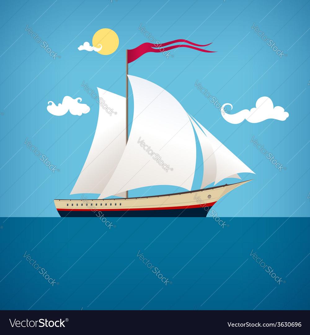 Sailing vessel vector   Price: 1 Credit (USD $1)