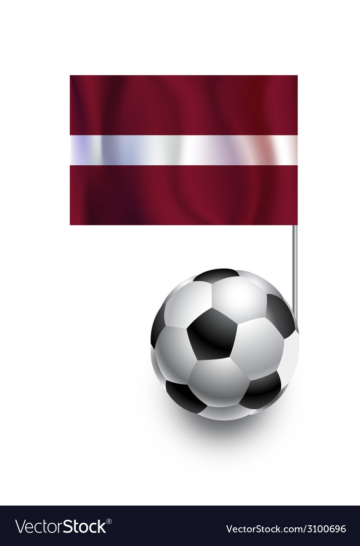 Soccer balls or footballs with flag of latvia vector | Price: 1 Credit (USD $1)