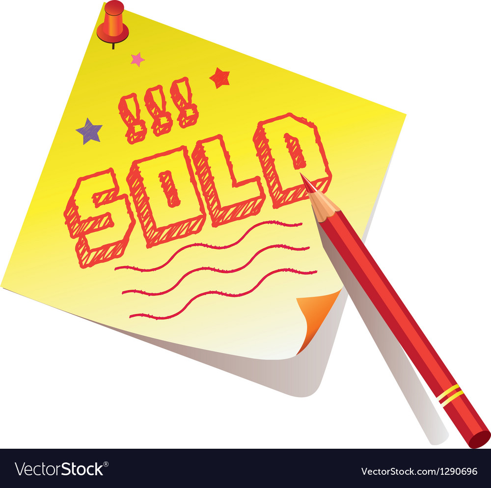 Sold memo vector | Price: 1 Credit (USD $1)