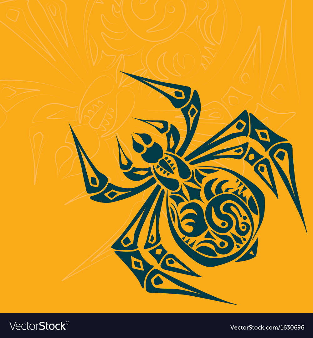 Spider tribal tattoo vector | Price: 1 Credit (USD $1)