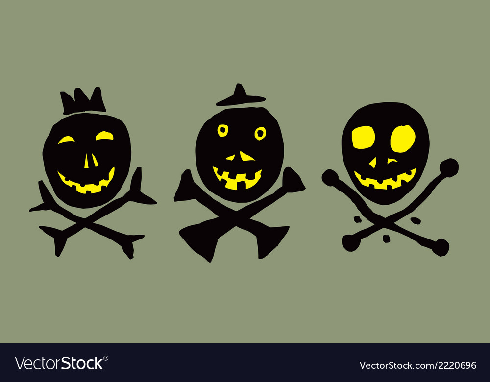 Three skulls vector | Price: 1 Credit (USD $1)
