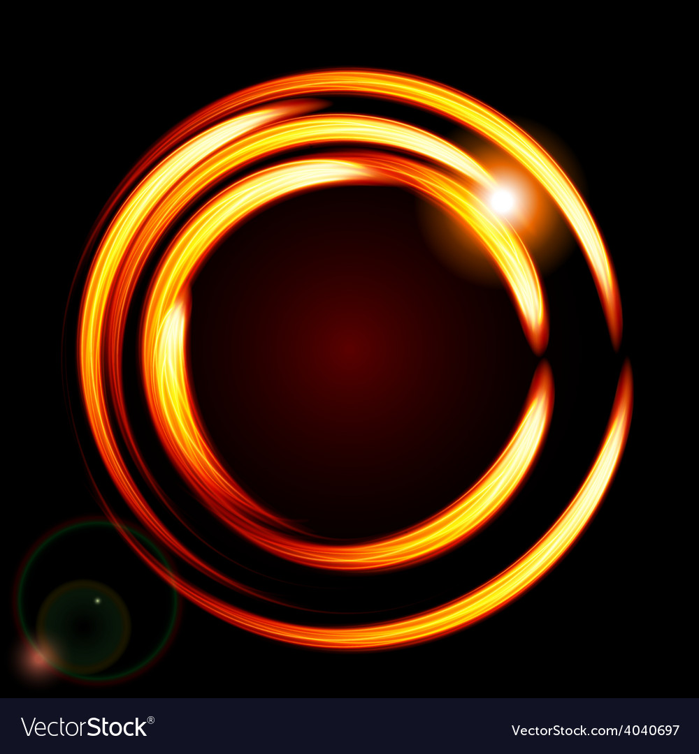 Abstract background-fire circle frame vector | Price: 1 Credit (USD $1)