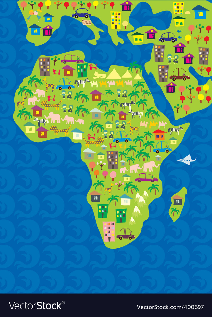 Africa geography vector | Price: 1 Credit (USD $1)