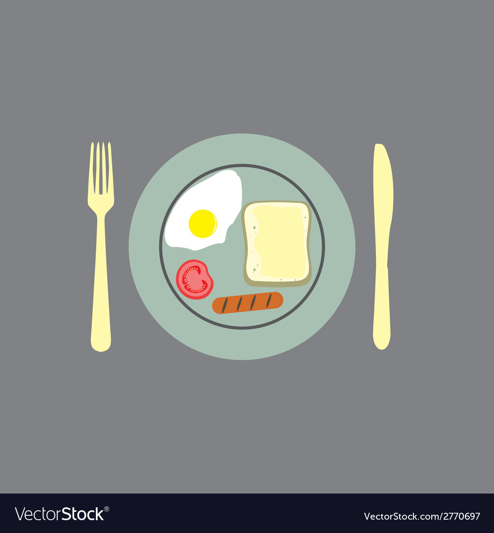 Breakfast background vector | Price: 1 Credit (USD $1)