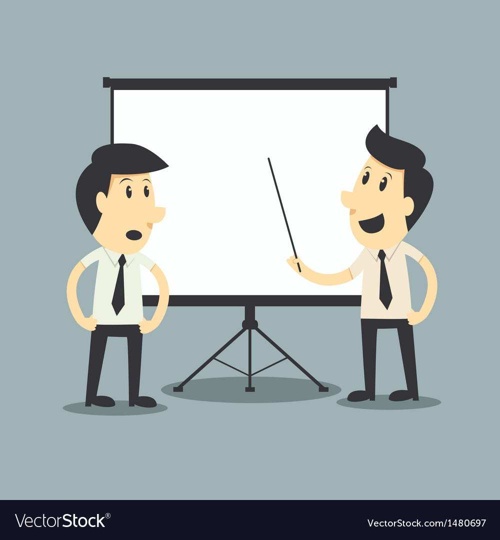 Businessman presenting blank board vector | Price: 3 Credit (USD $3)