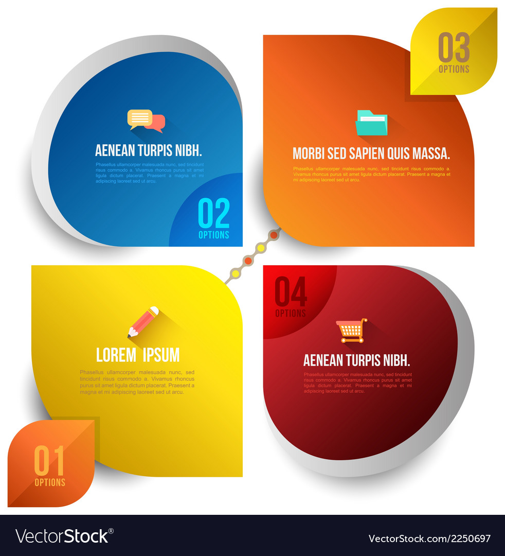Circle business concepts with icons vector | Price: 1 Credit (USD $1)