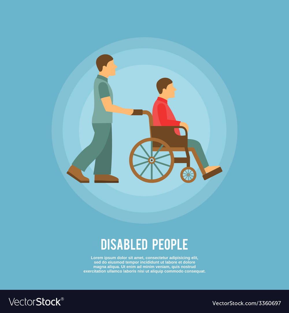 Disabled person poster vector | Price: 1 Credit (USD $1)