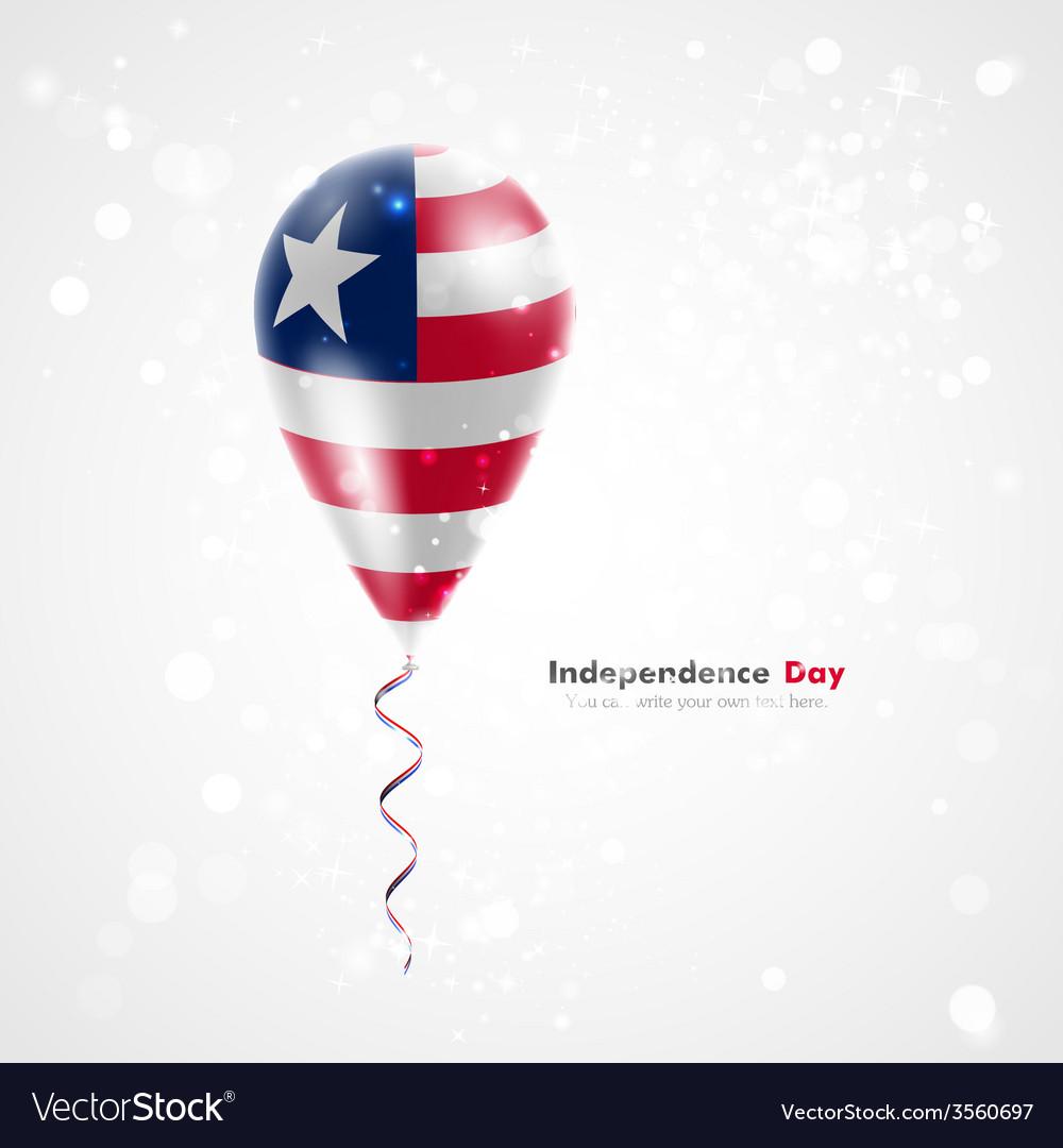 Flag of liberia on balloon vector   Price: 1 Credit (USD $1)