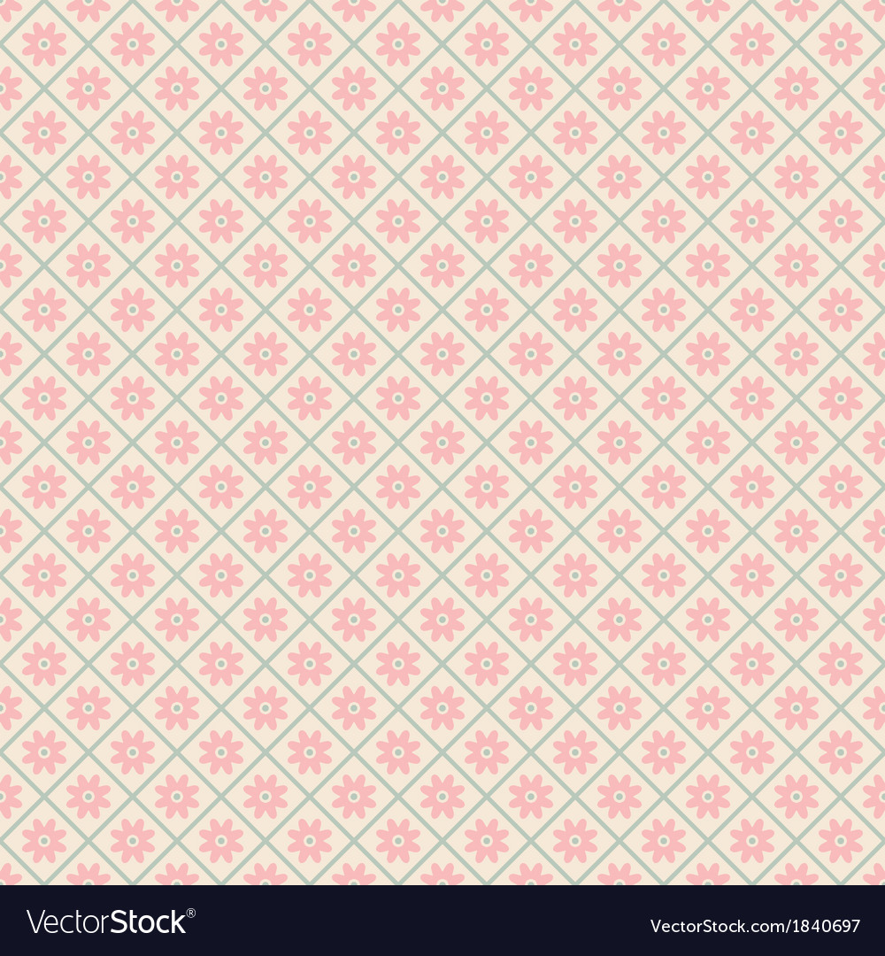 Floral seamless pattern with lines tiling vector | Price: 1 Credit (USD $1)