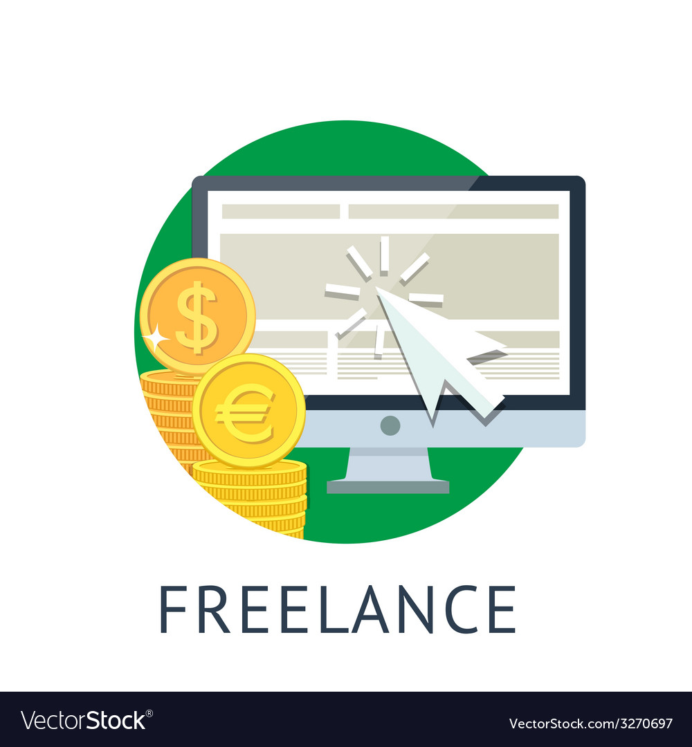 Freelance icon vector | Price: 1 Credit (USD $1)