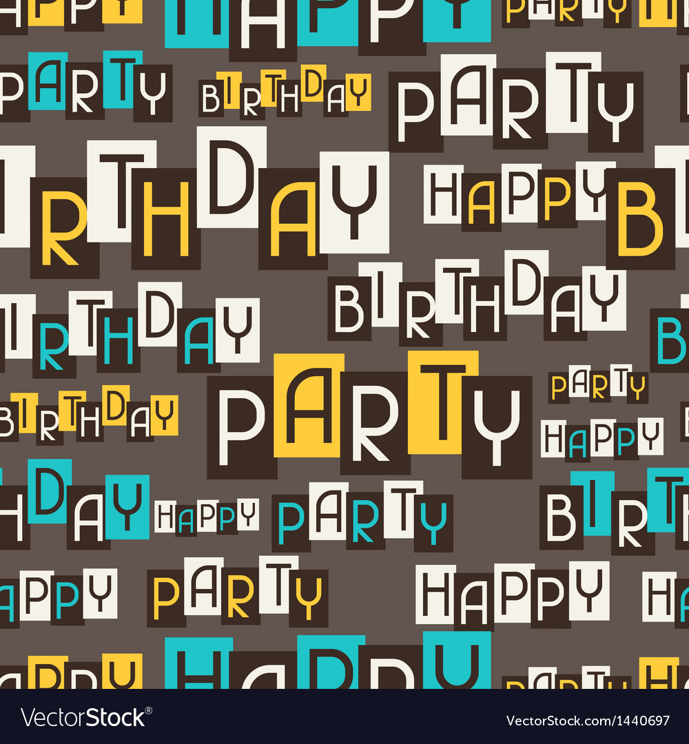 Happy birthday party seamless pattern vector | Price: 1 Credit (USD $1)
