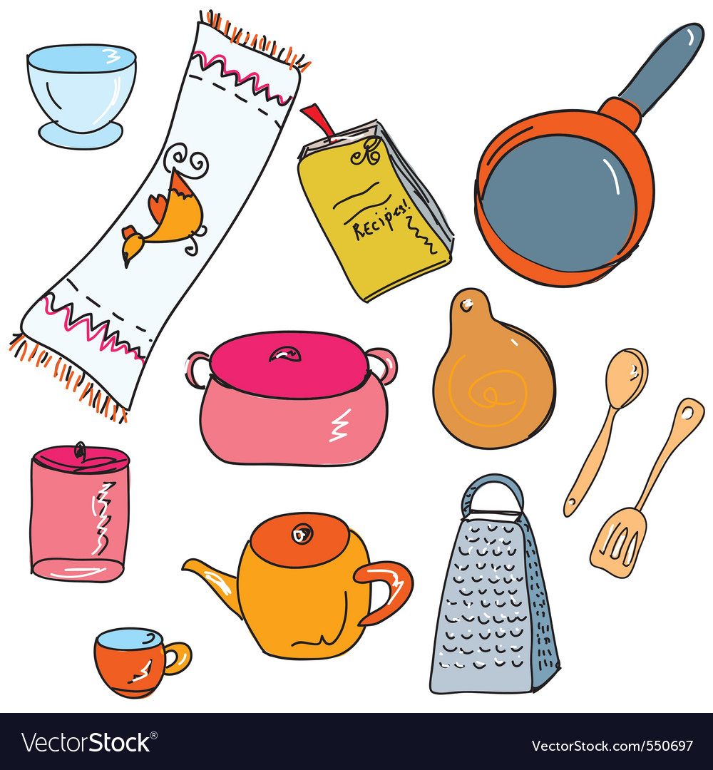 Kitchen accesories vector | Price: 1 Credit (USD $1)