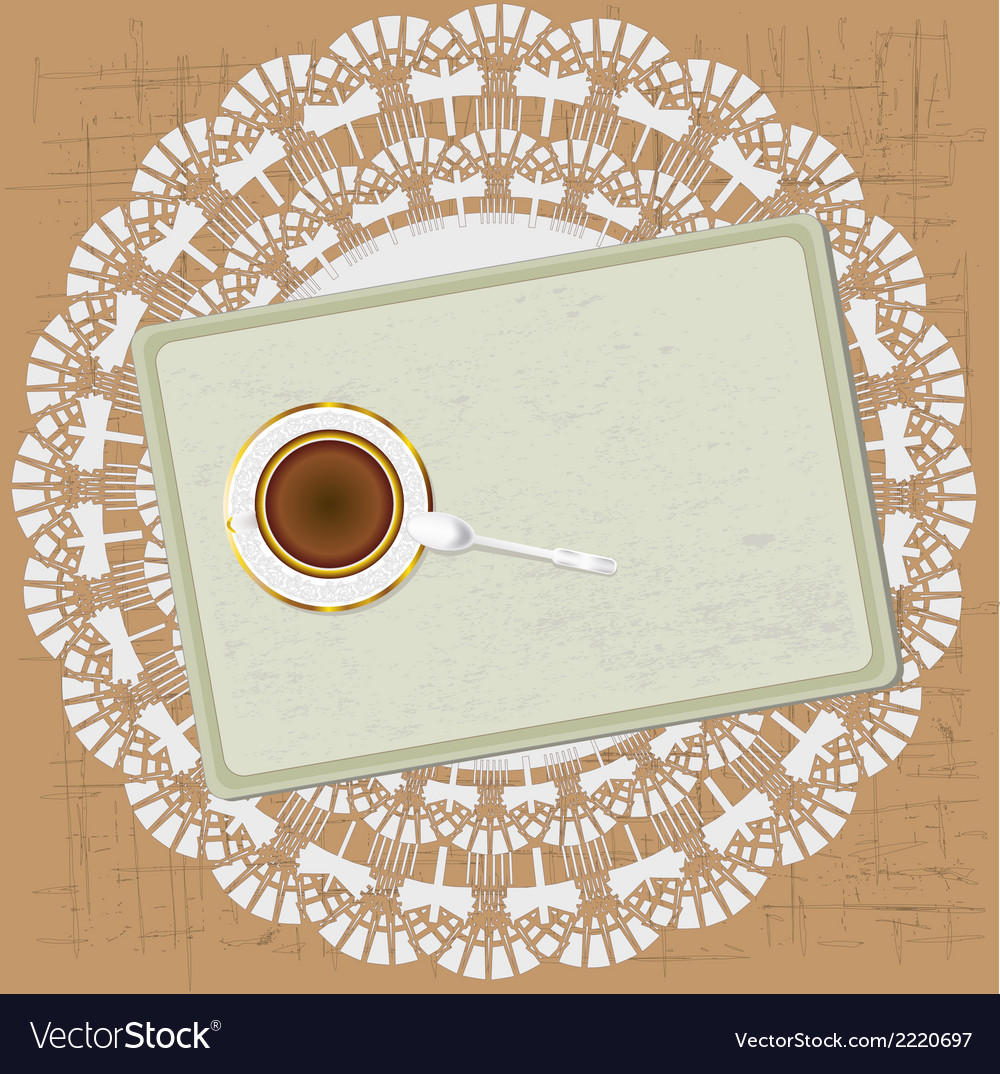 Morning tea vektor vector | Price: 1 Credit (USD $1)