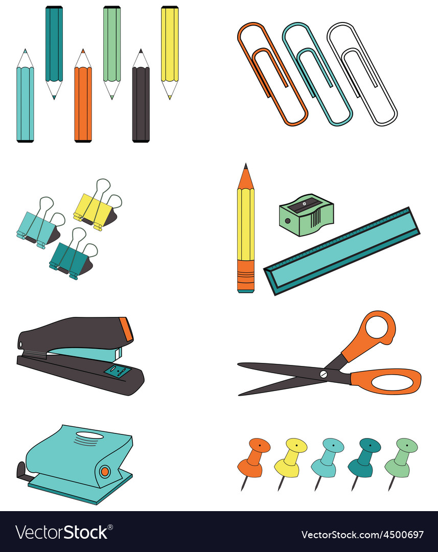 Office accessories vector | Price: 1 Credit (USD $1)