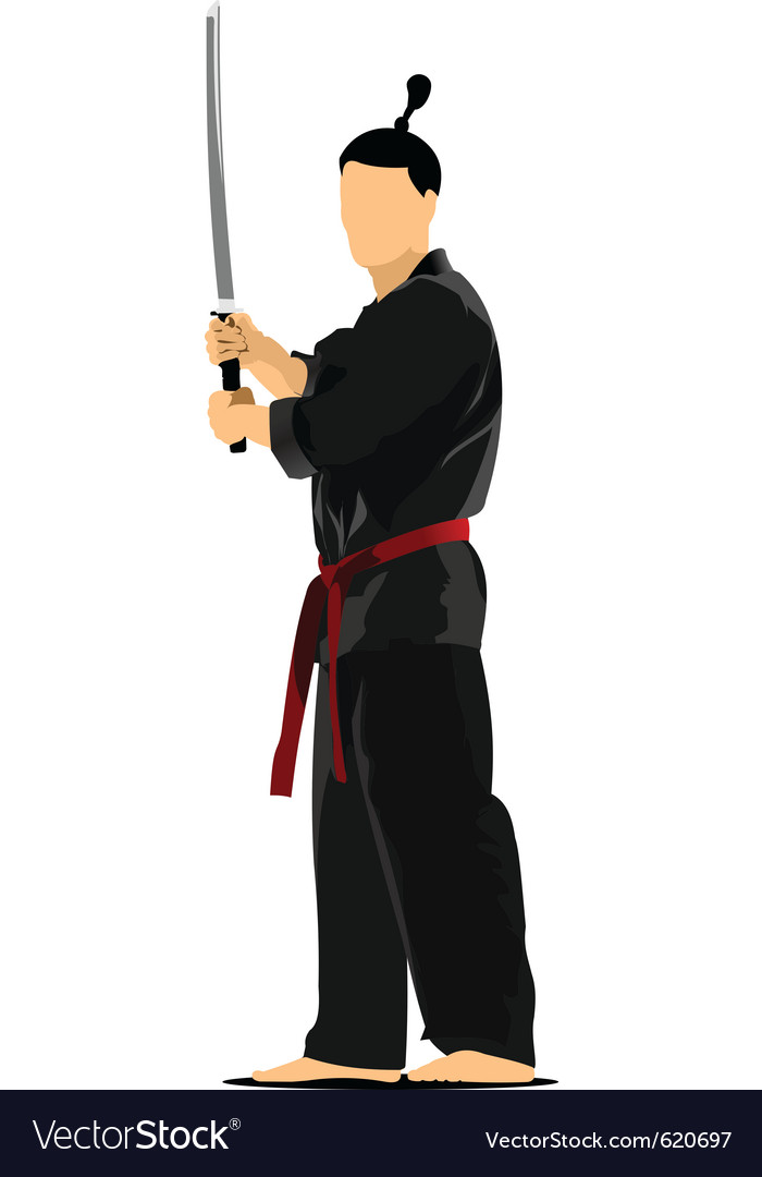 Samurai sword vector | Price: 1 Credit (USD $1)