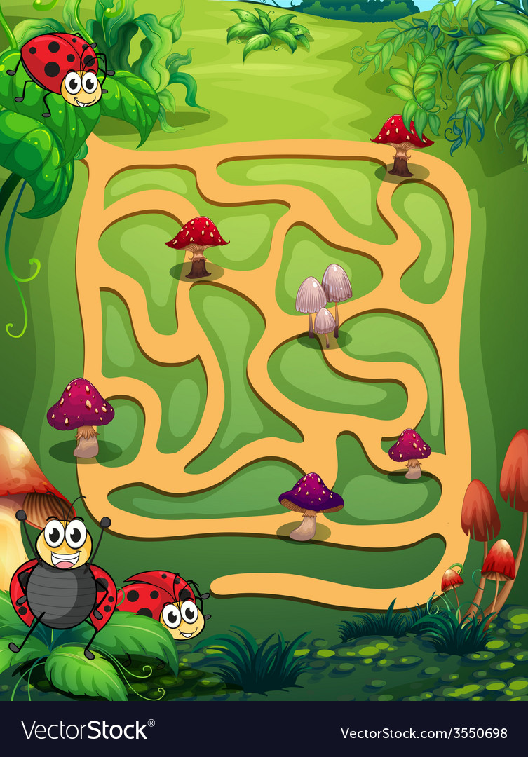 A maze vector | Price: 3 Credit (USD $3)