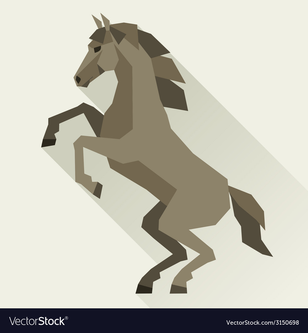 Background with horse standing in flat style vector | Price: 1 Credit (USD $1)
