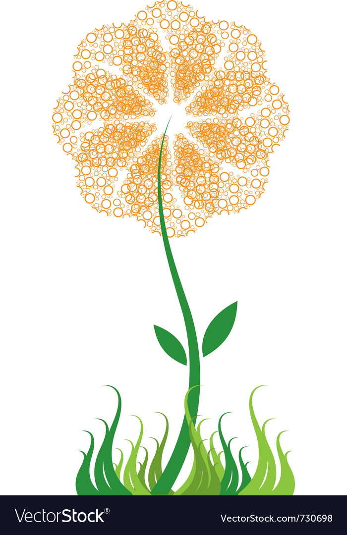 Bubble flower vector | Price: 1 Credit (USD $1)