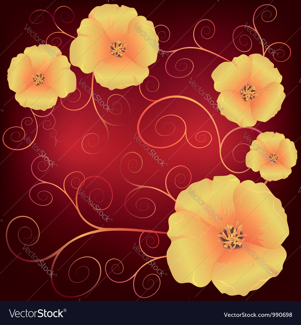 California poppies vector | Price: 1 Credit (USD $1)