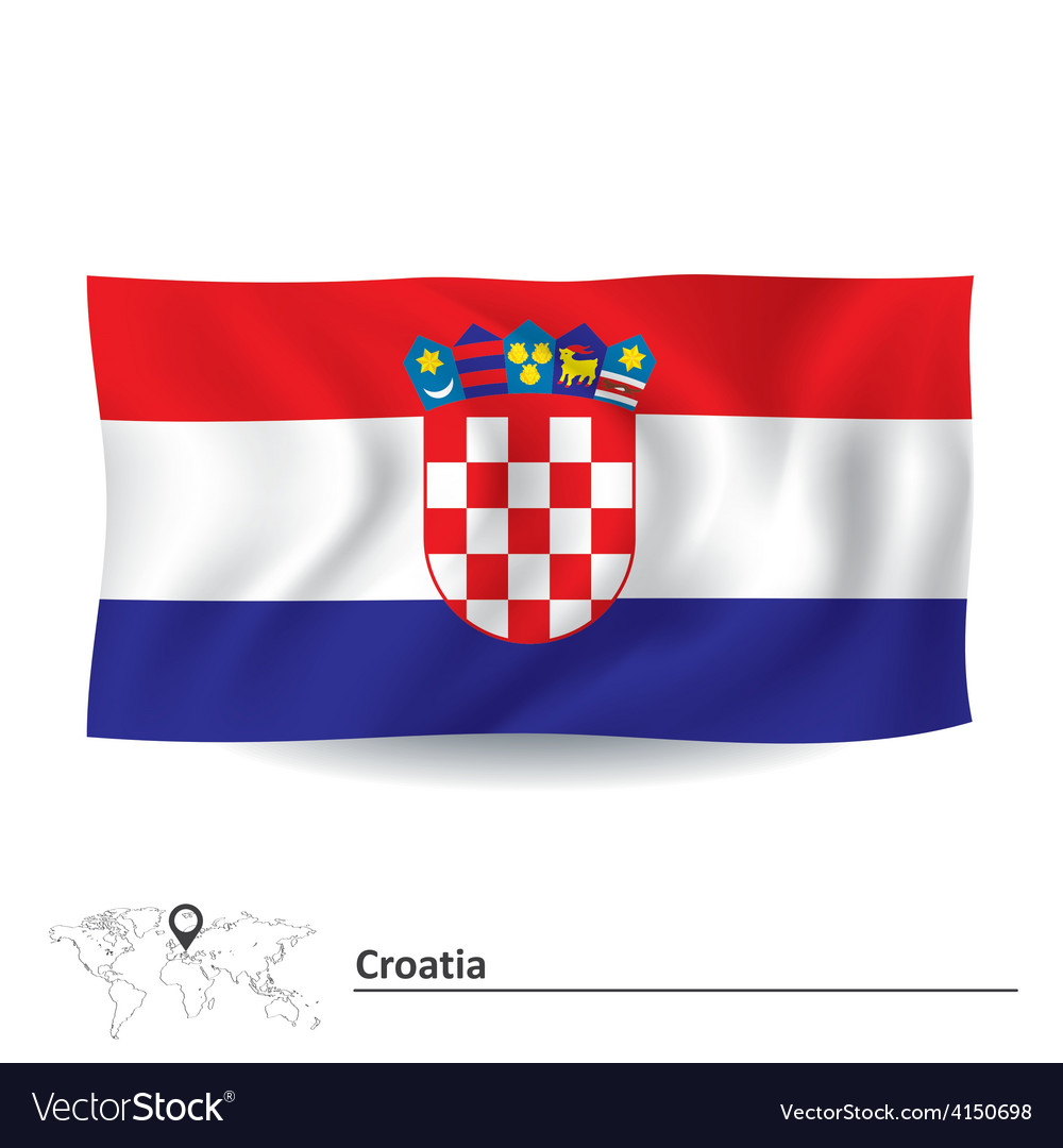 Flag of croatia vector | Price: 1 Credit (USD $1)