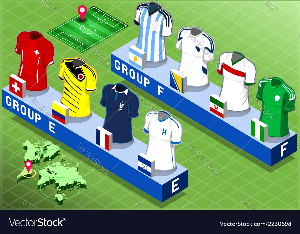 Isometric nations groups for soccer world cup vector | Price: 1 Credit (USD $1)