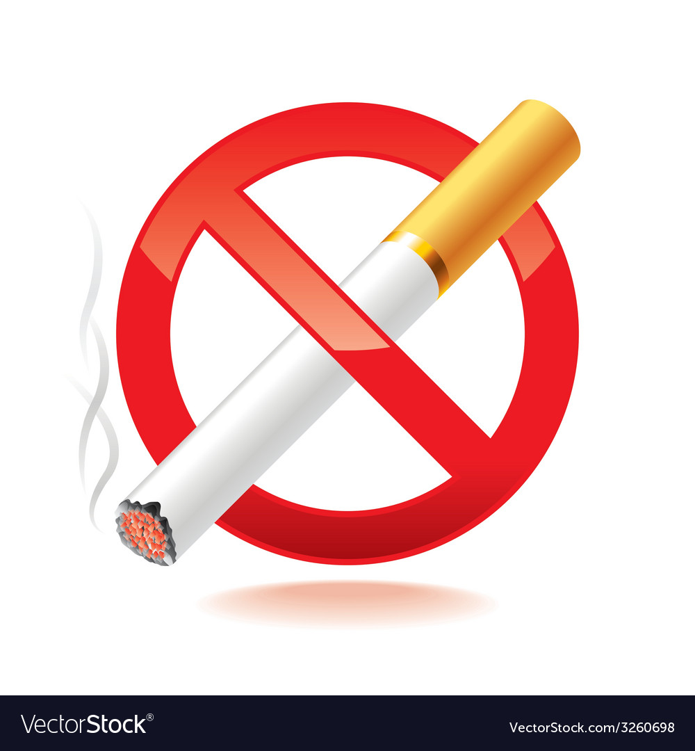 No smoking isolated vector | Price: 1 Credit (USD $1)