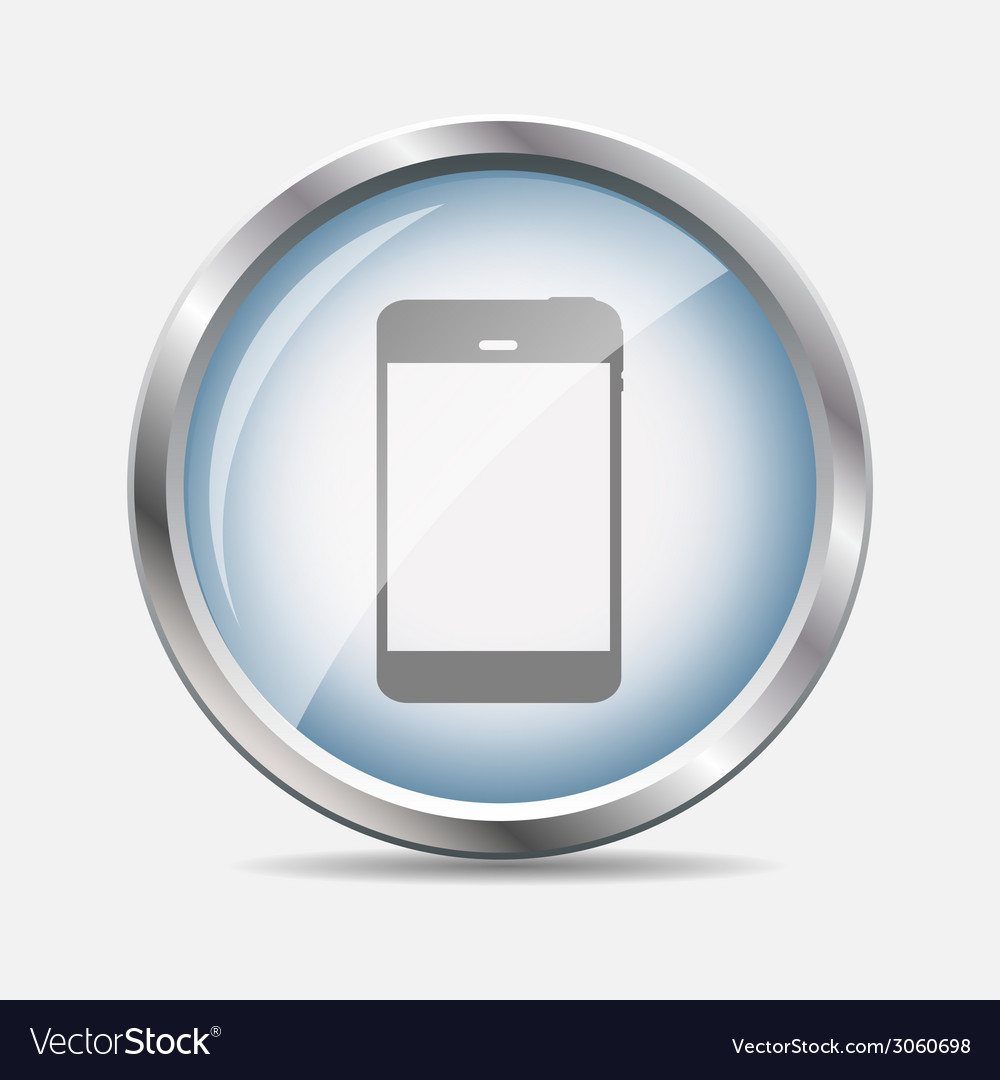 Phone glossy icon vector | Price: 1 Credit (USD $1)