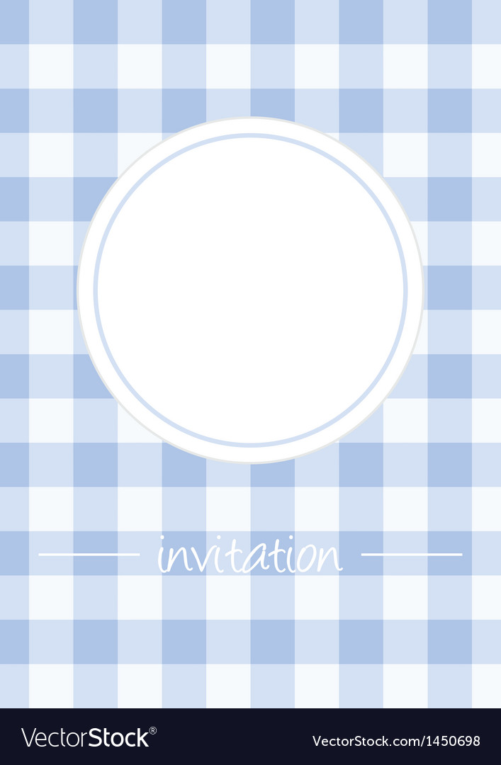Retro blue vintage card or invitation with checker vector | Price: 1 Credit (USD $1)