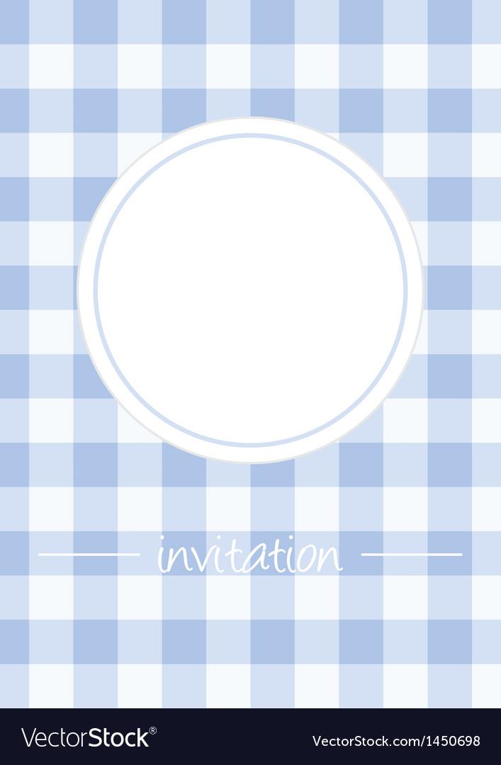 Retro blue vintage card or invitation with checker vector | Price: 1 Credit (USD $1)