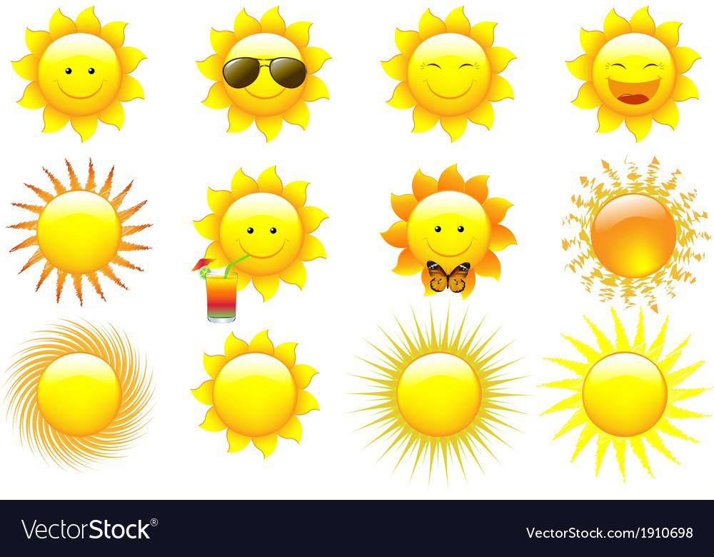 Set suns vector | Price: 1 Credit (USD $1)